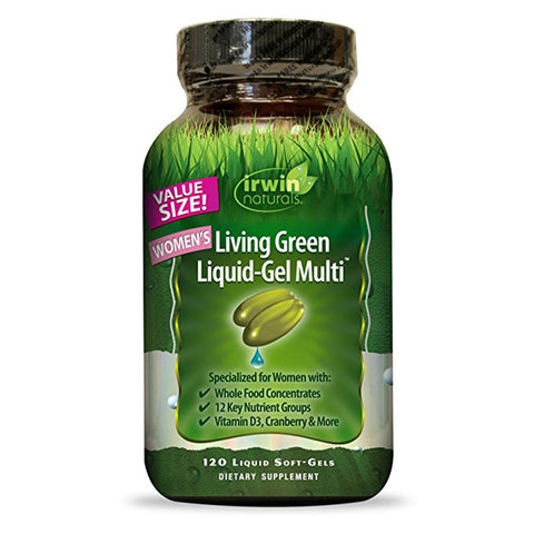 Irwin Naturals Women's Multivitamin Living Green Liquid-Gel Multi - 120 Count