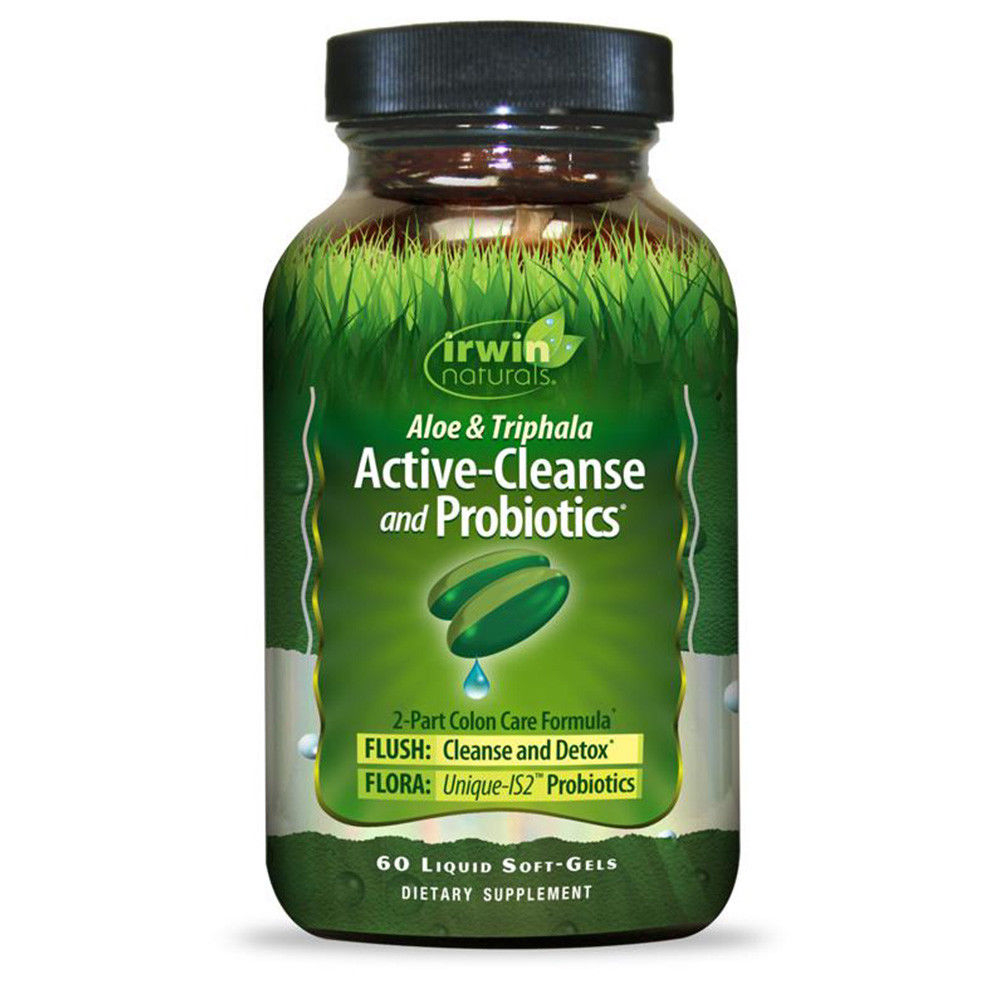 Irwin Naturals Active Cleanse & Probiotics Softgels, 60 Ct