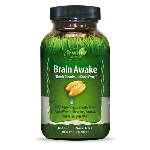 Irwin Naturals Brain Awake Think Clear Work Fast Focus Energy Boost - 60 ct