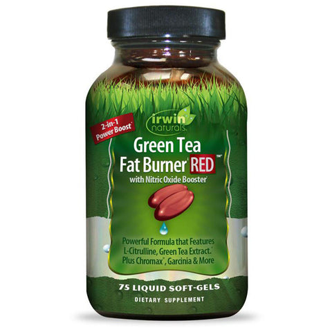 Irwin Naturals Green Tea Fat Burner RED w/ Nitric Oxide Booster Power - 75 ct