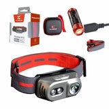 Klarus H1A Rechargeable Headlamp (Titanium) - 550Lm - Battery Included