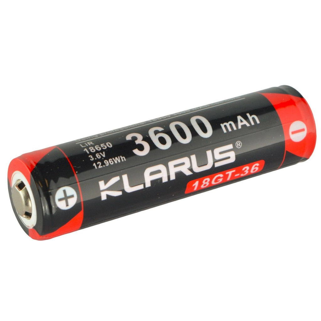 Klarus 18GT-36 18650 3600 mAh Li-ion Rechargeable Battery for LED Flashlights