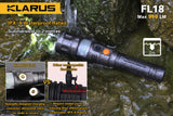Klarus FL18 CREE XM-L2 U2 LED Rechargeable Flashlight - 950 Lumens