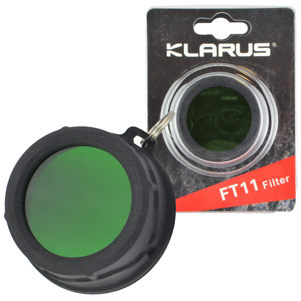 Klarus FT11 Green Filter For 35mm LED Flashlights Silicone Frame XT11 XT12