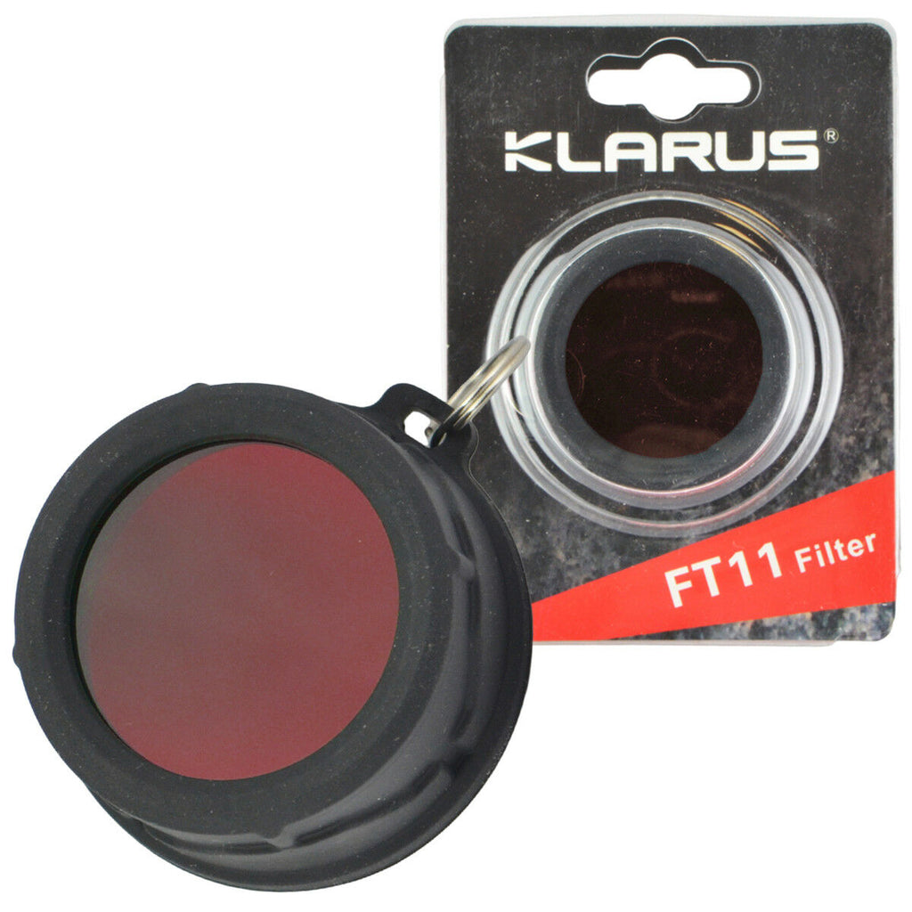 Klarus FT11 RED Filter For 35mm LED Flashlights Silicone Frame XT11 XT12
