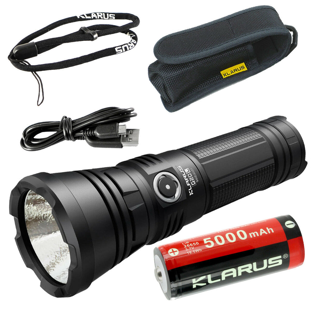 Klarus G20L Rechargeable Flashlight -CREE XHP70.2 P2 LED -3000 Lumens -Battery Included
