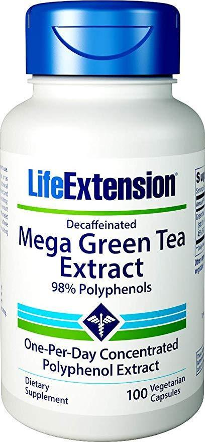 Quality Supplements and Vitamins LifeExtension  Mega Green Tea Extract, 100 ea