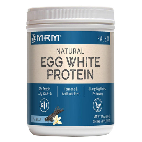 MRM Egg White Protein Powder, Paleo 6 Egg Whites Per Serving, 12 oz Vanilla