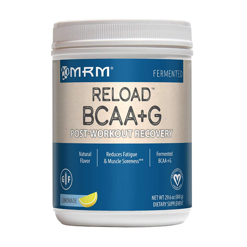 MRM BCAA+G Reload Post-Workout Recovery, 29.6 oz Lemonade Powder