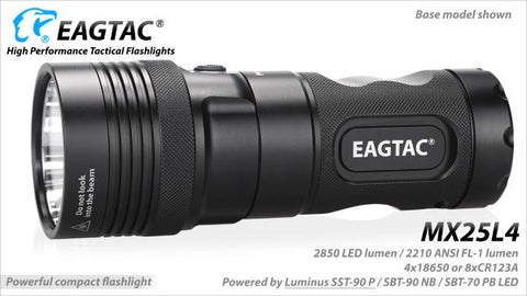 EagleTac MX25L4 SST-90 LED 2850 Lumen Flashlight (Base Model)