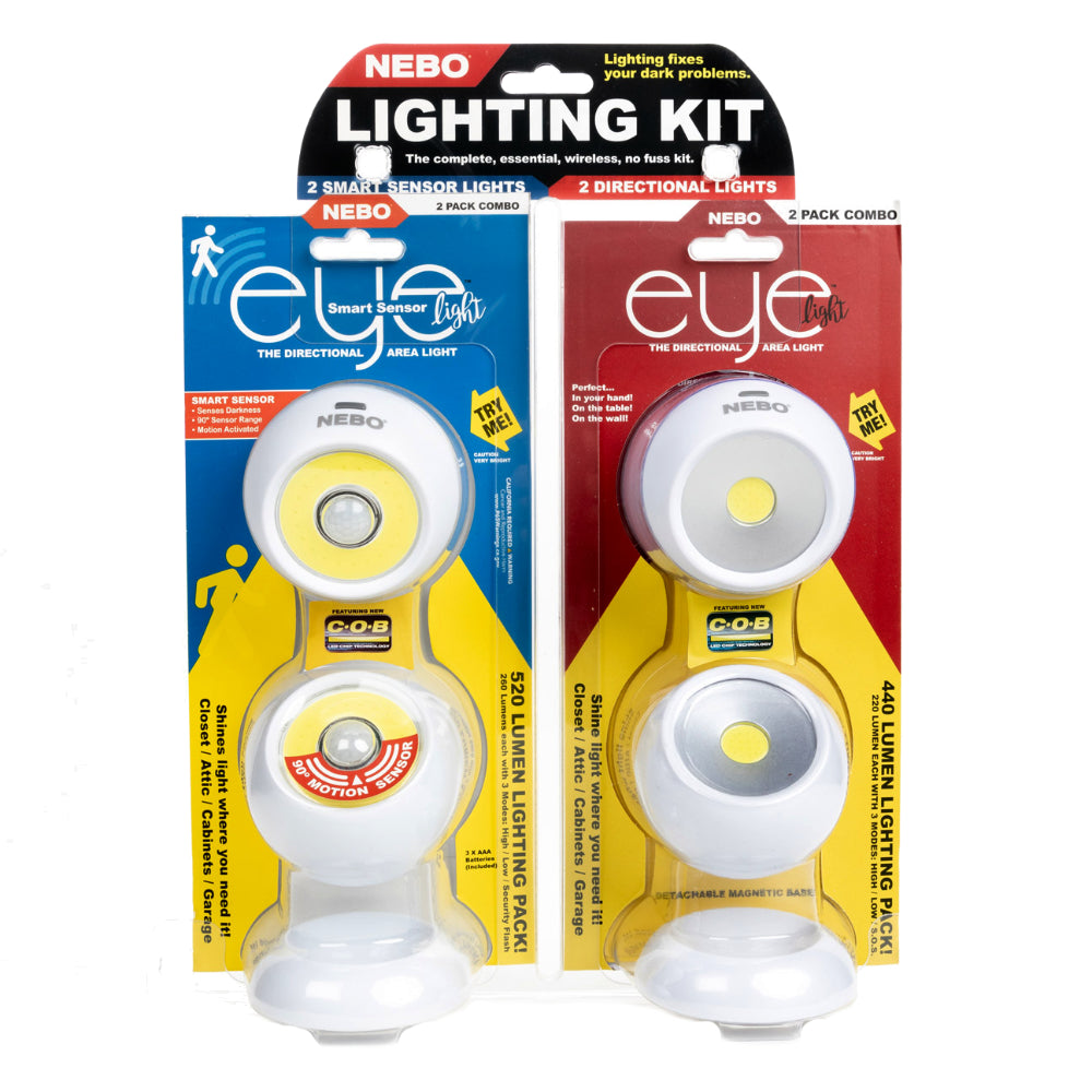Nebo EYE Smart Sensor Lighting Kit 4 LED Lights with Magnetic Base