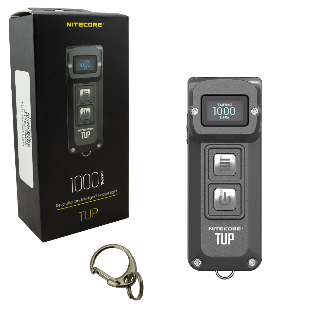 Nitecore TUP 1000 Lumen Rechargeable Pocket Light OLED Display Flashlight Grey