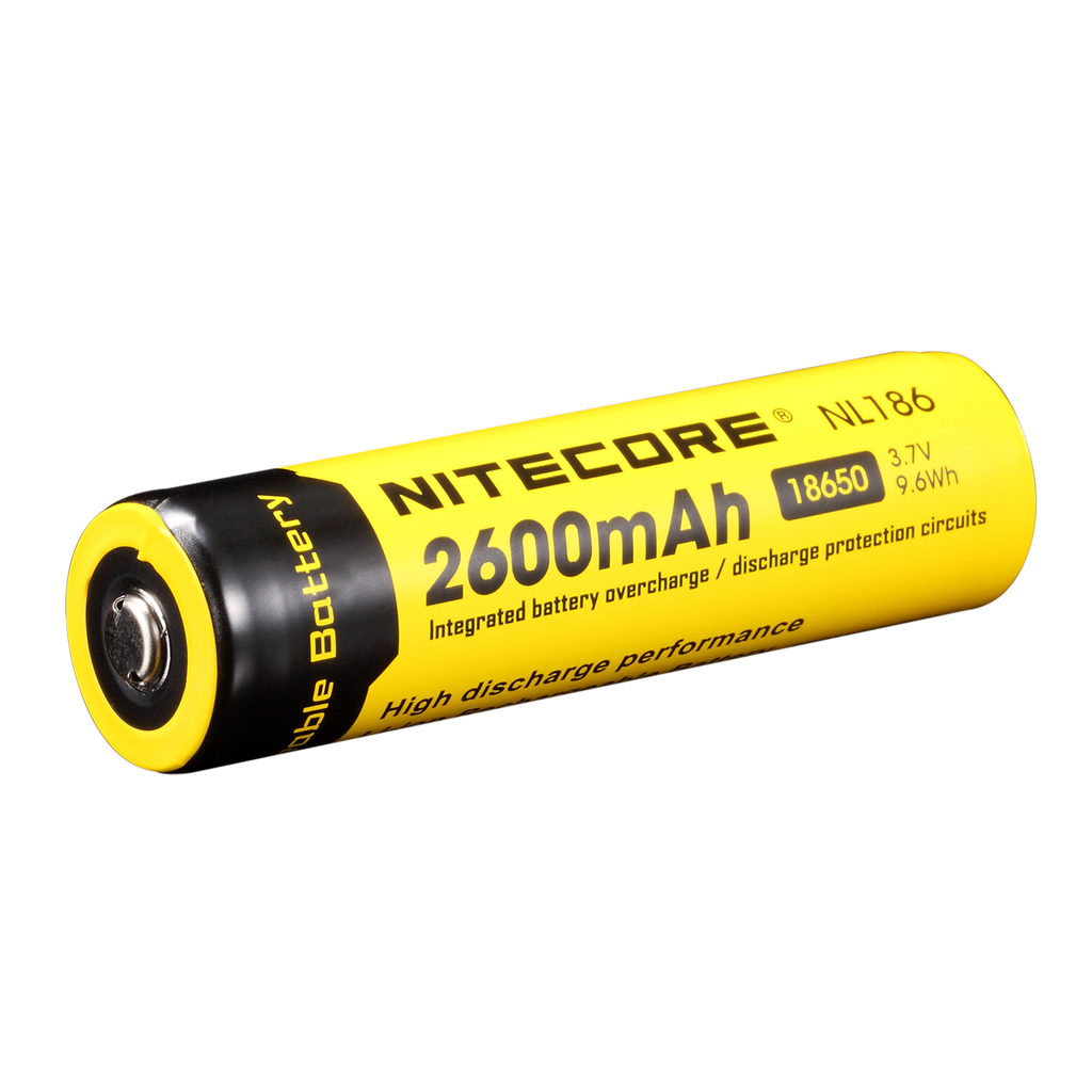 NITECORE 2600mAh Protected Li-ion 18650 Rechargeable Battery