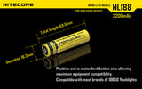 NITECORE NL188 3200 mAh Protected Li-ion 18650 Rechargeable Battery