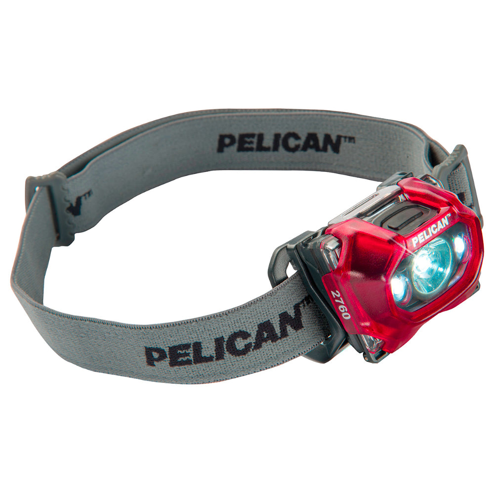 Pelican 2760 Headlamp 289 Lumen LED Light with Red LED (Red)