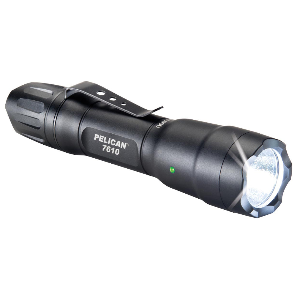 Pelican 7610 Tactical Flashlight 1018 Lumen LED Programmable Light, Black