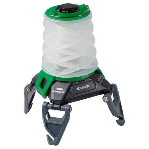 Princeton Tec Helix Rechargeable Lantern, Swipe-Activated LED Light, Black/Green