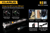 Klarus RS11 Dual Switch Rechargeable 930 Lumen LED Flashlight