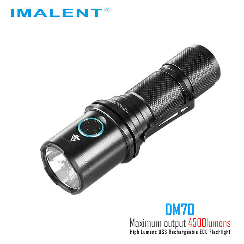 Imalent DM70 Flashlight LED Light with USB Rechargeable Battery Compact 4500 Lumens EDC Light