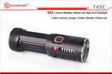 Sunwayman T45C 980 Lumens Metallic Hollow-out Flashlight