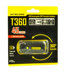 NiteCore T360 USB Rechargable Rotateable LED Headlamp