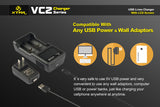 Xtar VC2 USB Li-ion Battery Charger