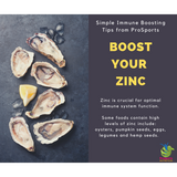 Herbs Of Gold Ultra Zinc + contains high-strength zinc that is organically bound to support absorption, with cofactors vitamin A, B6 and magnesium.