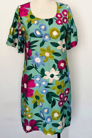 Gillian Dress - Floral Viscose - 10 & 12 only