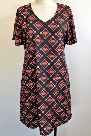 Amelia Japanese Print Dress WAS $139 , NOW $69 , S & L only