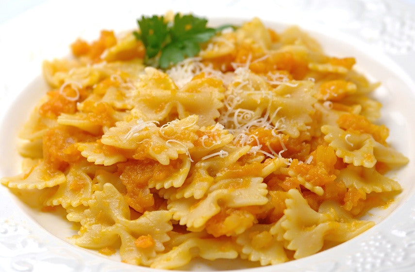 Ayurvedic Recipe - Gluten Free Bow Tie Pasta with Pumpkin Sauce