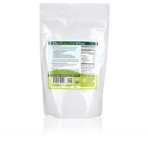 Organic Grass Fed Whey Protein - Soy Free