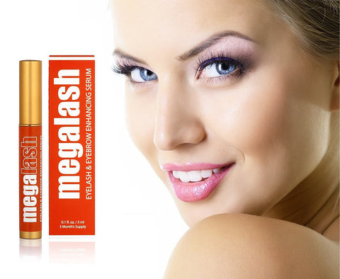 MegaLash - Natural Eyelash Growth Serum - Longer & Thicker Eyelashes