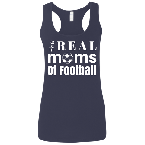 Real Moms of Soccer Ladies' Softstyle Racerback