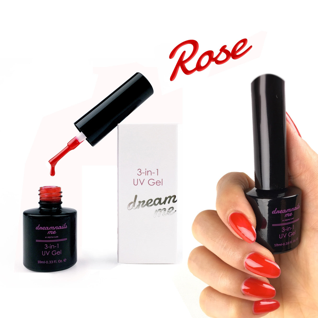 3-in-1 UV Gel Nail Polish by dreamnails me