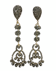 Sarah Crystal Earrings