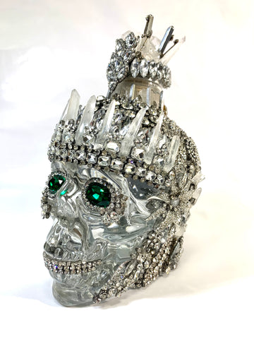 """ICE"" Embellished Crystal Head Vodka Bottle"