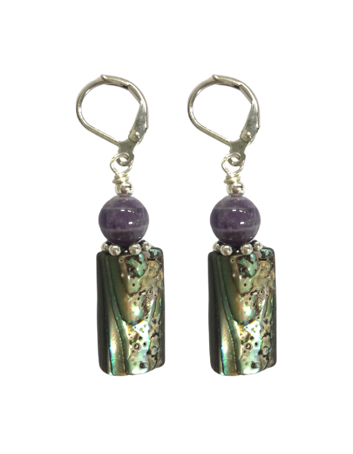 Flor Abalone and Amethyst