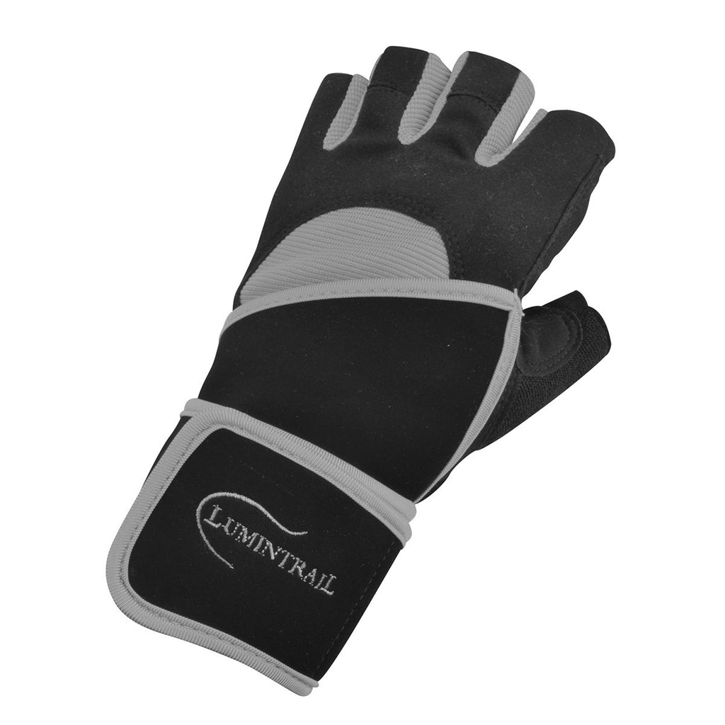 Weight Lifting Gloves With Wrap Around Wrist: Half Finger Weight Lifting Gloves With Wrist Wrap