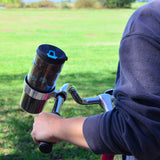Bicycle Coffee Cup Travel Mug Holder with Handlebar Clamp Mount