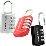 Set-Your-Own 4 Digit Combination with 1/2 Inch Shackle Lock