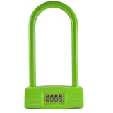 Combination U-Lock Green