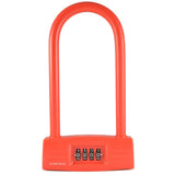 Combination U-Lock Red