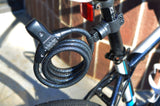 Bike Cable Lock Combination with LED Illumination and Mounting Bracket