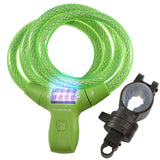 LK21051 Combination Green Cable Lock with LED Illumination