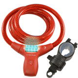 Red Combination Cable Lock and light bike lock