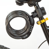 6-Foot Combination Bicycle Cable Lock with Mounting Bracket