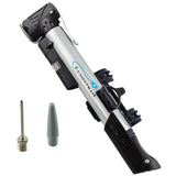 Telescoping Mini Bike Pump Dual Nozzle with Built-in Gauge