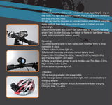 LED Bicycle Headlight Set with Helmet Mount - 1600 Lumen