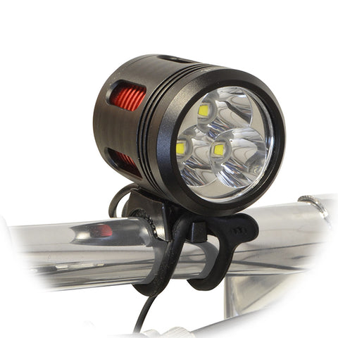 3000 Lumen LED Bicycle Headlight Set with Helmet Mount