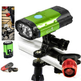 Rechargeable 800 Lumen LED Bike Headlight - Green